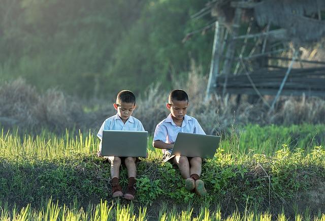 online i v přírodě